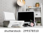 working place of a business... | Shutterstock . vector #299378510