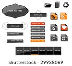 large set of web buttons | Shutterstock .eps vector #29938069