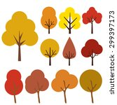 collection of autumn trees ... | Shutterstock .eps vector #299397173