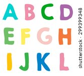 colorful letters for kids | Shutterstock .eps vector #299399348
