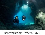 exploring the caves at st john... | Shutterstock . vector #299401370