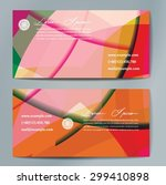 stylish business cards with... | Shutterstock .eps vector #299410898