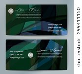 stylish business cards with... | Shutterstock .eps vector #299411150