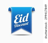 eid discount blue vector icon...   Shutterstock .eps vector #299417849