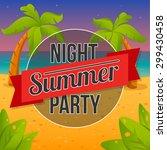 summer seaside view poster.... | Shutterstock .eps vector #299430458