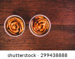 cinnamon roll  unbaked dough...   Shutterstock . vector #299438888