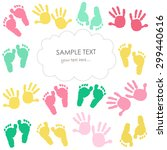 Colorful Baby Footprint And...