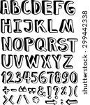 set of hand drawn vector...   Shutterstock .eps vector #299442338