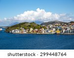 view of kristiansund  norway. | Shutterstock . vector #299448764