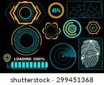 sci fi futuristic user... | Shutterstock .eps vector #299451368