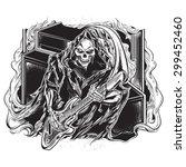 guitarist grim reaper | Shutterstock .eps vector #299452460