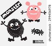 cartoon doodles monster for...   Shutterstock .eps vector #299456978