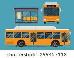 cool modern flat design public... | Shutterstock .eps vector #299457113