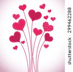 Romantic Love Design  Vector...