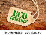 eco friendly  sign a paper... | Shutterstock . vector #299468150