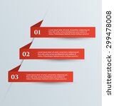 web banner template with number ... | Shutterstock .eps vector #299478008