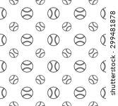 seamless pattern with baseball | Shutterstock .eps vector #299481878