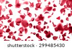 Stock photo rose petals falling 299485430
