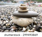 pebbles on the beach black sea | Shutterstock . vector #299493869
