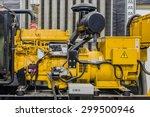 Close Up Diesel Generator Unit...