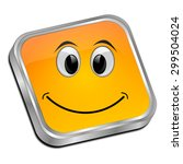 button with smiling face | Shutterstock . vector #299504024