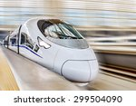 Modern High Speed Train At The...