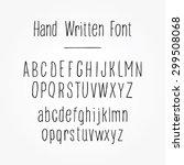 hand written alphabet. upper... | Shutterstock .eps vector #299508068