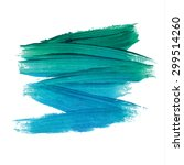 brush stroke. acrylic paint... | Shutterstock .eps vector #299514260