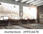 3d rendering of loft studio | Shutterstock . vector #299516678