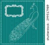 vector peacock background | Shutterstock .eps vector #299517989