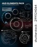 infographic elements.... | Shutterstock .eps vector #299524064