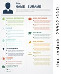 infographic template with icons ... | Shutterstock .eps vector #299527550