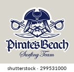 pirate captain head and two... | Shutterstock .eps vector #299531000
