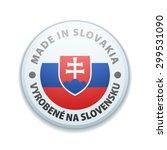 made in slovakia  non english...   Shutterstock .eps vector #299531090