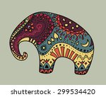 vector illustration of colorful ... | Shutterstock .eps vector #299534420