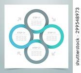 abstract 4 circle ribbon... | Shutterstock .eps vector #299548973
