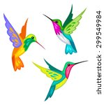 Stylized Hummingbirds