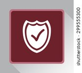 shield sign icons  vector... | Shutterstock .eps vector #299555300