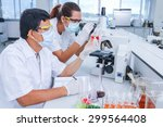 scientists are working to make... | Shutterstock . vector #299564408