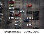 High View Of Car Park  Aerial