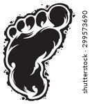 Stock vector footprint 299573690