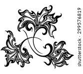 black and white vector flowers  ...   Shutterstock .eps vector #299576819