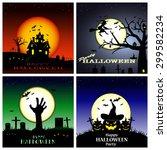 halloween background halloween... | Shutterstock .eps vector #299582234