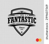 sign of fantastic  | Shutterstock .eps vector #299607569