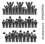 group of business people in a... | Shutterstock .eps vector #299609900