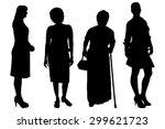 vector women silhouette on a... | Shutterstock .eps vector #299621723