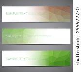modern vector banners polygonal ... | Shutterstock .eps vector #299622770