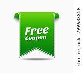 free coupon green vector icon... | Shutterstock .eps vector #299638358