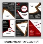 set of flyer design   vector... | Shutterstock .eps vector #299639714