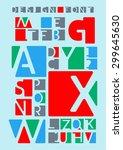 design font | Shutterstock .eps vector #299645630